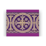 ASSISI Overlay stole with woven Orphrey (purple)-1,ASSISI Overlay stole with woven Orphrey (purple)-2
