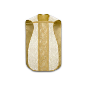 White (Lined) Roman chasuble-1,White (Lined) Roman chasuble-2