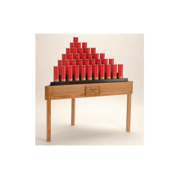 19X736TB Oak Table Votive Stand