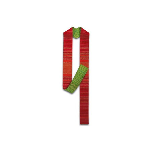 Red-Green Reversible stole-1