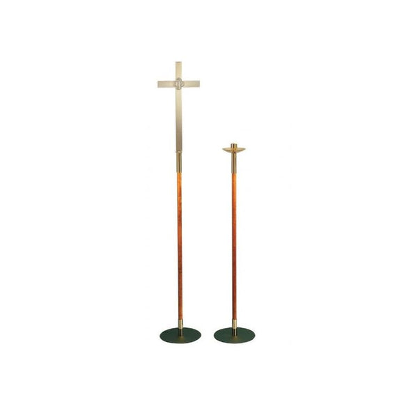 Christian Brands SB70 Processional Cross and Torch Candlestick