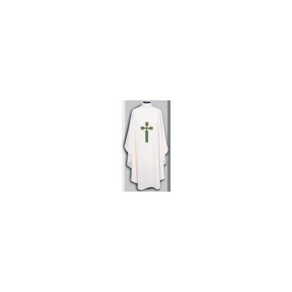 Beau Veste 872 Celtic Cross Design - Chasuble  Pure White  Embroidered Front Only