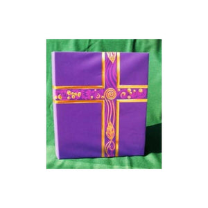 006629 Ceremonial Binder Royal Purple/with GOLD FOIL