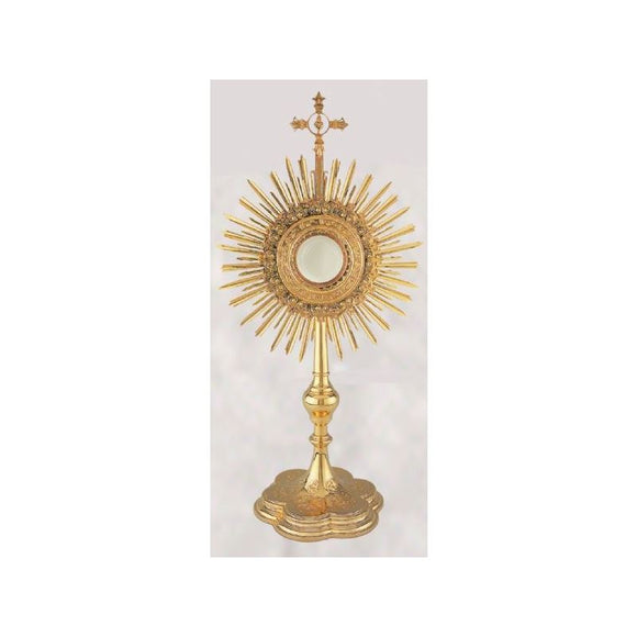 10-439 Layered Floral Wreath Monstrance