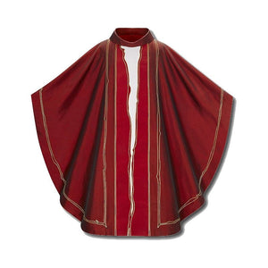 "Dark Red (Lined) Chasuble """"Il Soffio""""-1"