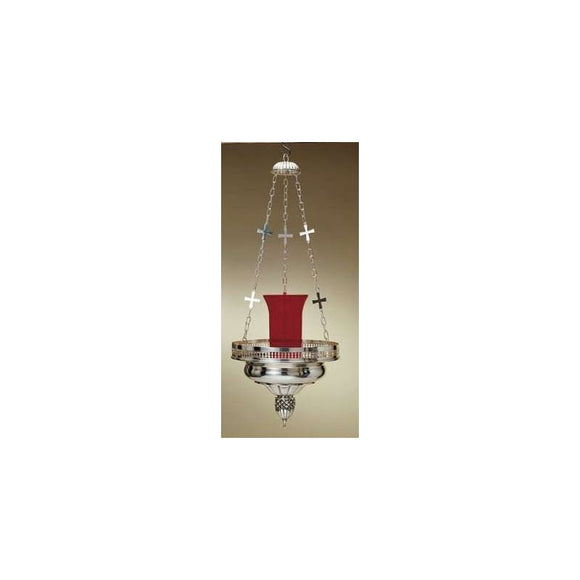 Artistic Silver 8304 Hanging Sanctuary Lamp