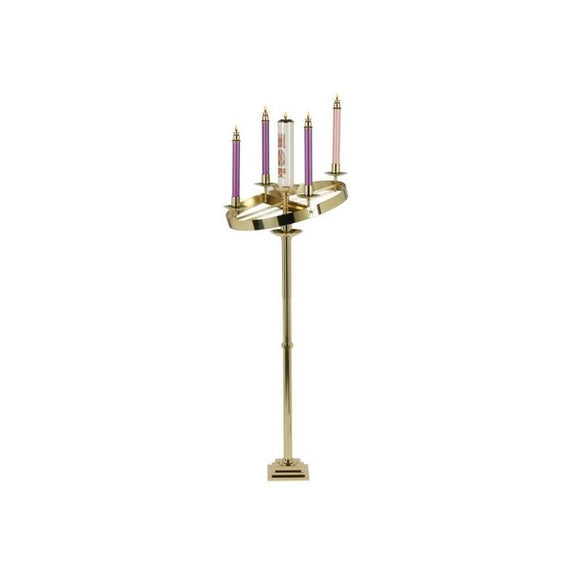 Christian Brands SB1006H Solid Brass 2-Way Adjustable Advent Wreath