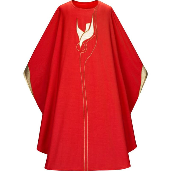 Red Gothic Chasuble-1,Red Gothic Chasuble-2