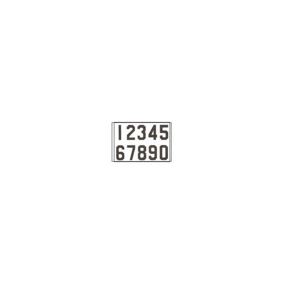 TS10026CDW Black on White Hymn Board Numbers Card Width 2