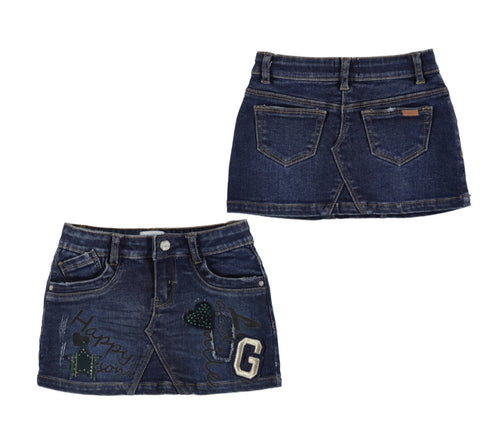 4911-67 Mayoral Mini Girls Denim Skirt 2 & 6y