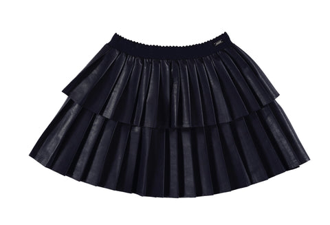 4909-18 Mayoral Mini Girls Navy Leatherette Skirt 2 & 3Y