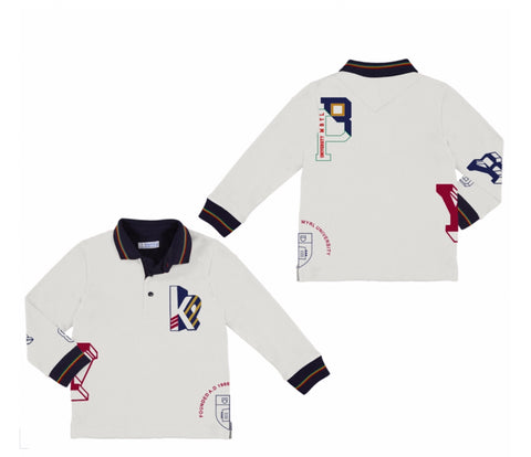 4113-43 Mayoral Mini Boys Long Sleeved Polo Shirt 9y