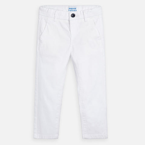 512-61 Mayoral Mini Boys White Chino Trousers