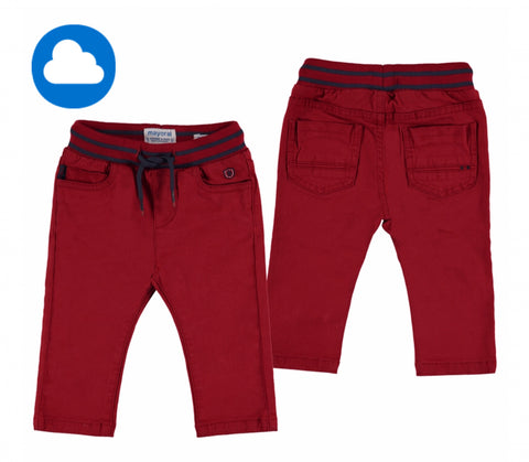 2541-34 Mayoral Baby Boys Red Twill Bottoms 6m