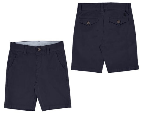 202-52 Mayoral Mini Boys Navy Twill Chino Shorts