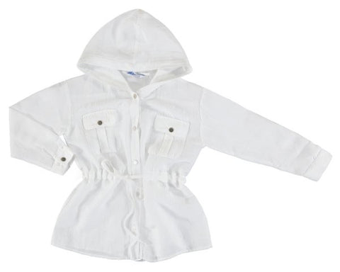 6173-04 Mayoral Junior Girls Natural Linen Shirt  In Stock