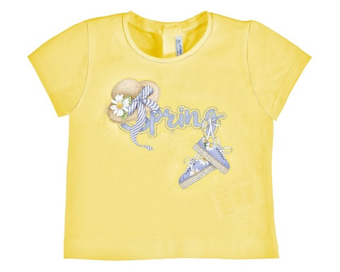 1059-75 Mayoral Baby Girls Yellow T-shirt Instock