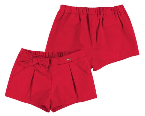 1201-33 Mayoral Baby Girls Red Satin Shorts