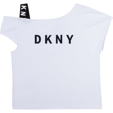 D35R44-10B DKNY White Fancy T-Shirt  In stock