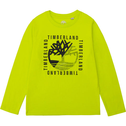 T25R18-60M Timberland Lime Long Sleeve T-Shirt