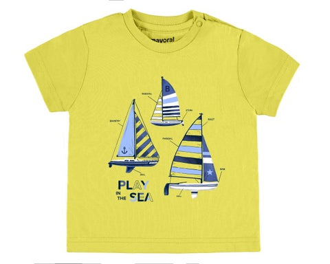 1045-15 Mayoral Baby Boys Yellow Tshirt