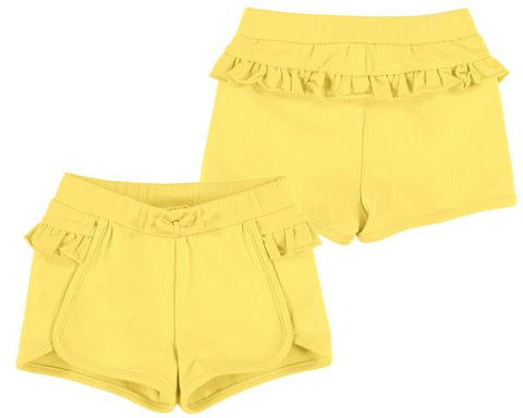 1204-78 Mayoral Baby Girls Yellow Ruffled Shorts