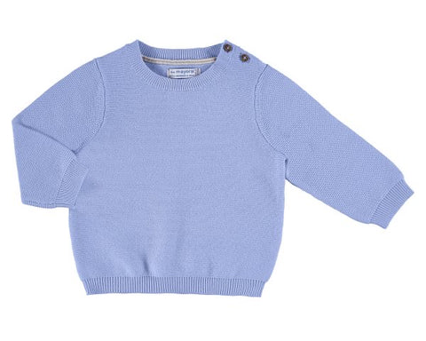 303-31 Mayoral Baby Boys Baby Blue Cotton Sweater in stock