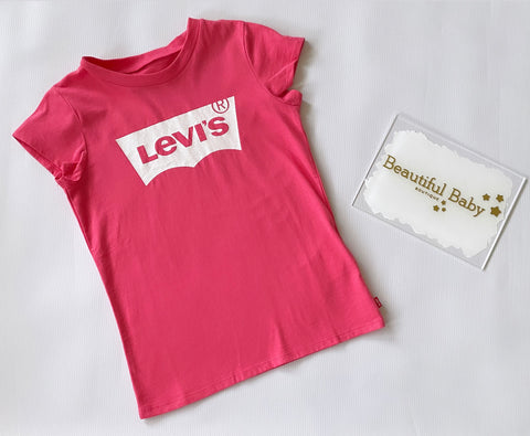 3E4234-A37 Levi Girl Bat Wing T-Shirt Tea Tree Pink In Stock