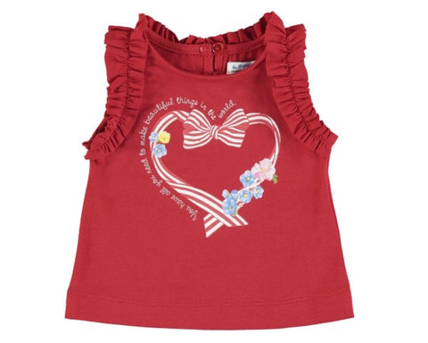 1070-38 Mayoral Baby Girls Red Tank Top