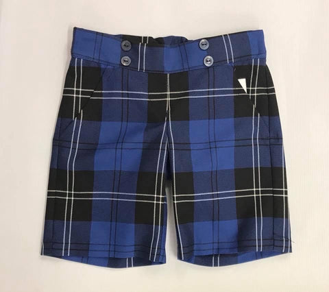 Blue Ramsay  Tartan School Shorts