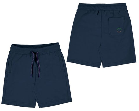 611-44 Mayoral Mini Boys Navy Basic Fleece Shorts in stock