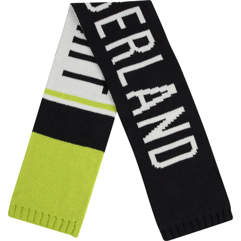 T01291-82 Timberland  Charcoal Lime Scarf