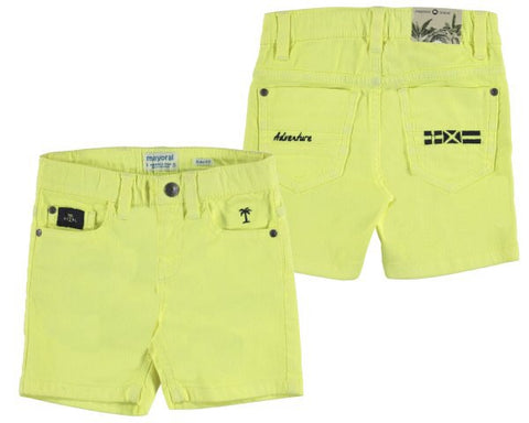 Mayoral 3230-11 Mini Boys Neon Shorts 7yr