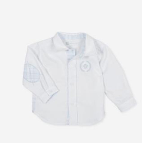 9028 Tutto Piccolo White/Blue Shirt