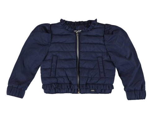 1486-33 Mayoral Baby Girls Navy Soft Windbreaker