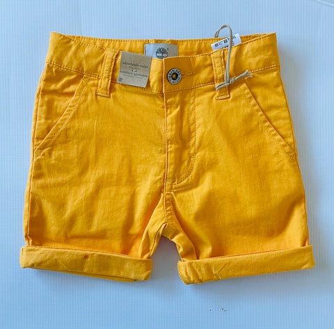 T24B32-565 Timberland Boy Gold Yellow Bermuda Shorts In Stock