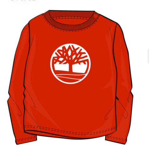 T05J41-997 Timberland Red Long Sleeve T-Shirt