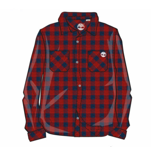 T25R44-997 Timberland Bright Red Long Sleeve Shirt