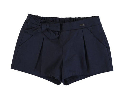 1201-32 Mayoral Baby Girls Navy Satin Shorts