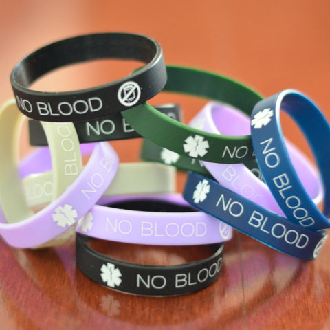 12-pack of No Blood Wristbands