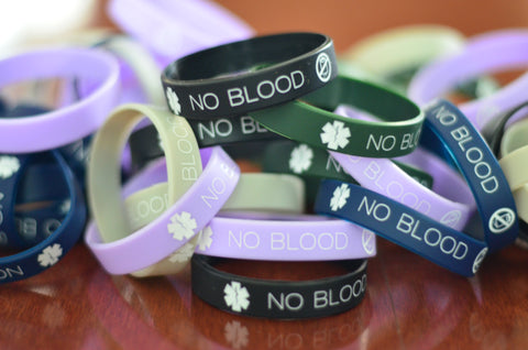 50-pack of No Blood Wristbands (One-time Offer!)