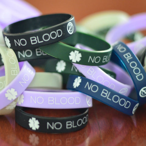 Bulk Orders of No Blood Wristbands