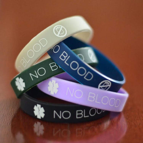 4-pack of No Blood Wristbands (add-on)