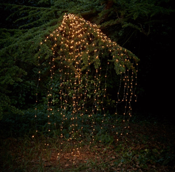 led string light on tree