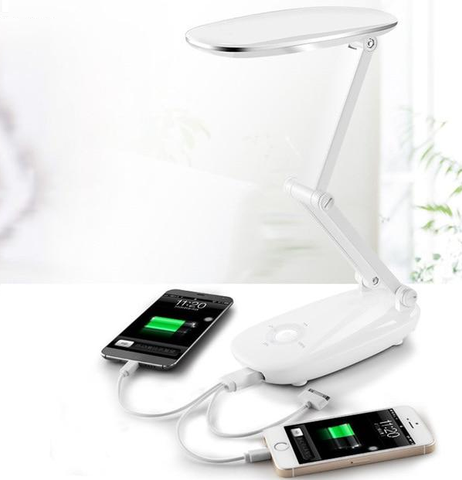 Portable LED Folding Desk Lamp with USB Power Bank