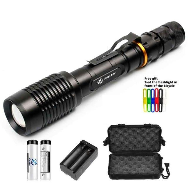8000 Lumens Aluminum LED Flashlight Torch