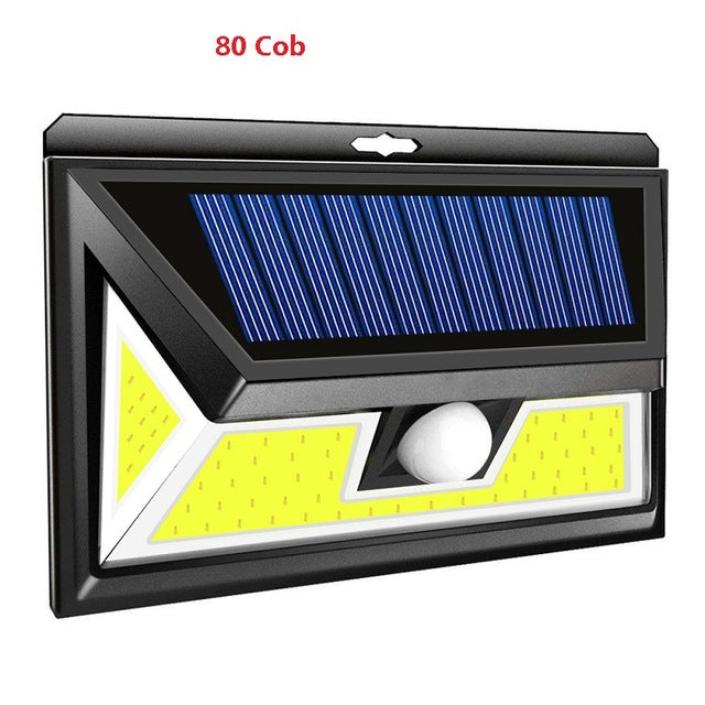 Outdoor 180 LED COB 3 Modes Solar Lamp PIR Motion Sensor 4000LM Wall Light