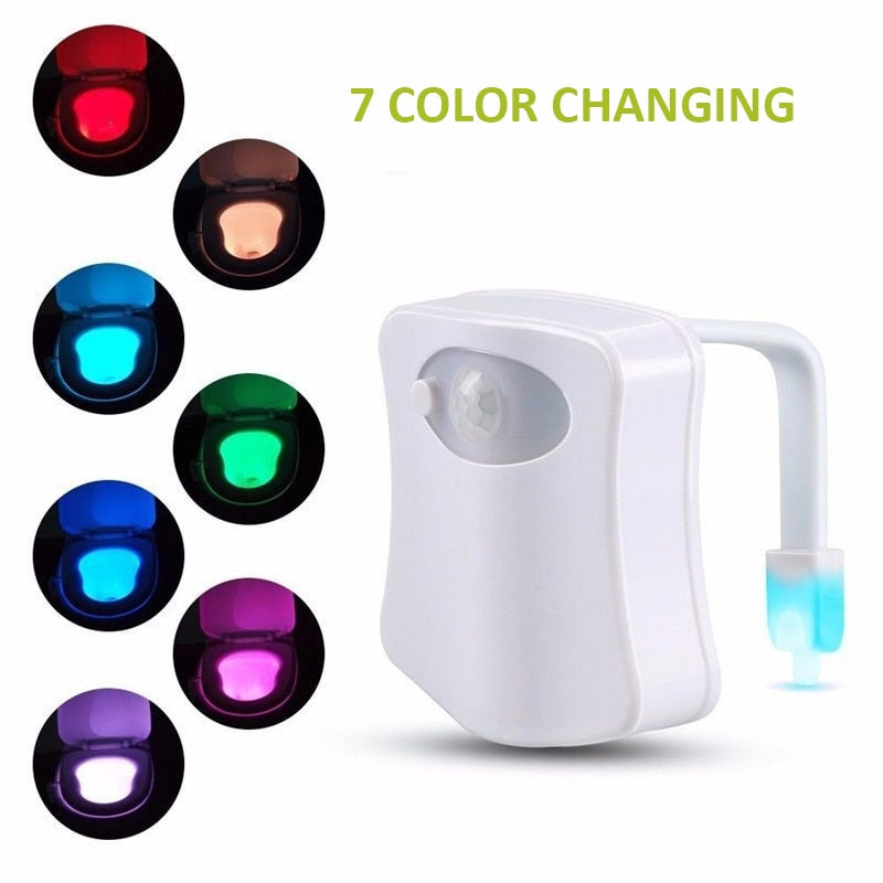 Automatic Colour Changing LED Bathroom Night Light with Motion Sensor