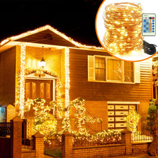 20m Decorative Christmas Holiday String Lights 200LEDs Dimmable with Remote
