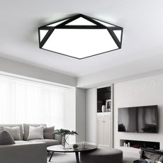 Modern LED Ceiling Lighting Fixture in Black/White